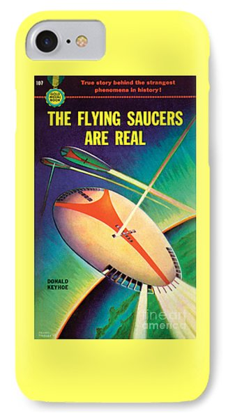 IPhone Case featuring the painting The Flying Saucers Are Real by Frank Tinsley