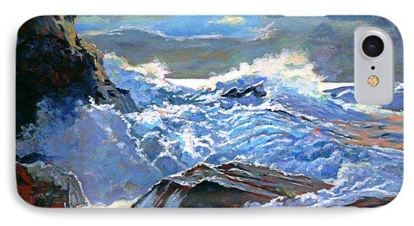 The Foaming Sea Phone Case by David Lloyd Glover