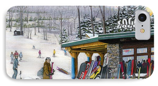 The Foggy Goggle At Seven Springs Phone Case by Albert Puskaric