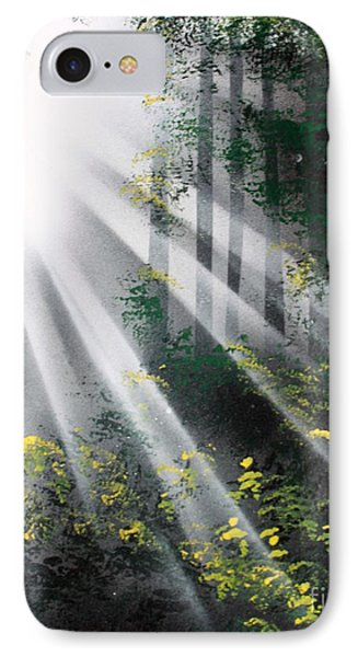 IPhone Case featuring the painting The Forest 01 by Greg Moores