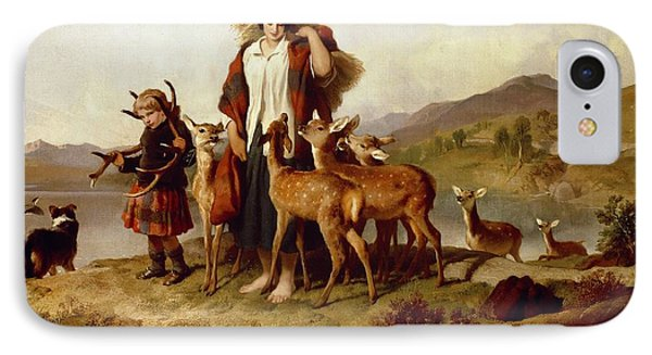 The Forester's Family IPhone Case by Sir Edwin Landseer