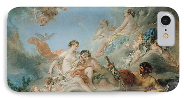 The Forge Of Vulcan Phone Case by Francois Boucher