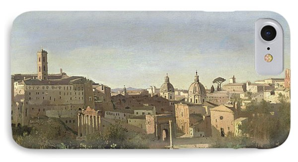 The Forum Seen From The Farnese Gardens IPhone Case by Jean Baptiste Camille Corot