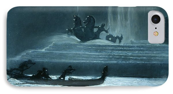 The Fountains At Night, World's Columbian Exposition IPhone Case by Winslow Homer
