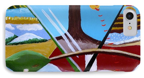 IPhone Case featuring the painting The Four Seasons by Rod Ismay
