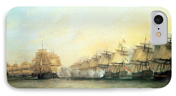 The Fourth Action Off Trincomalee Between The English And The French IPhone Case by Dominic Serres