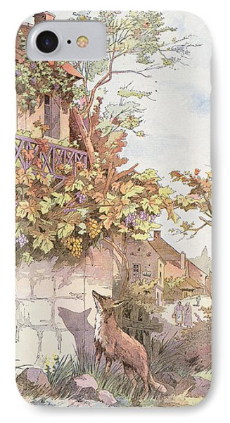 The Fox And The Grapes IPhone Case by Georges Fraipont
