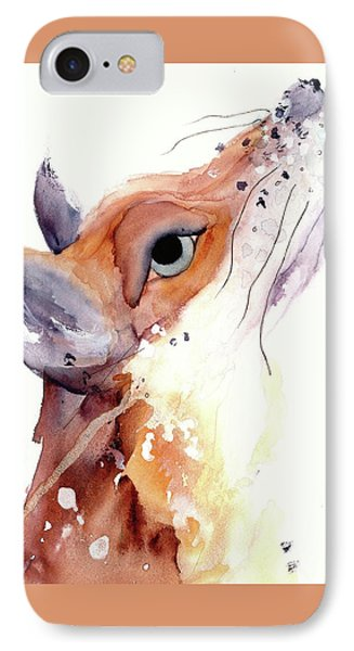 IPhone Case featuring the painting The Fox by Dawn Derman