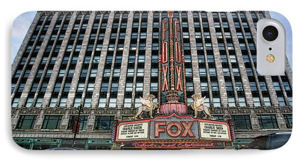 The Fox Theatre In Detroit Welcomes Charlie Sheen Phone Case by Gordon Dean II