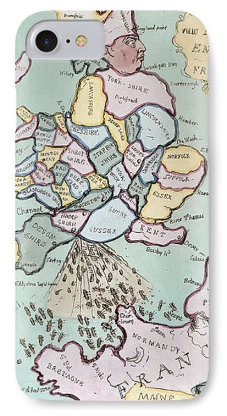 The French Invasion IPhone Case by James Gillray