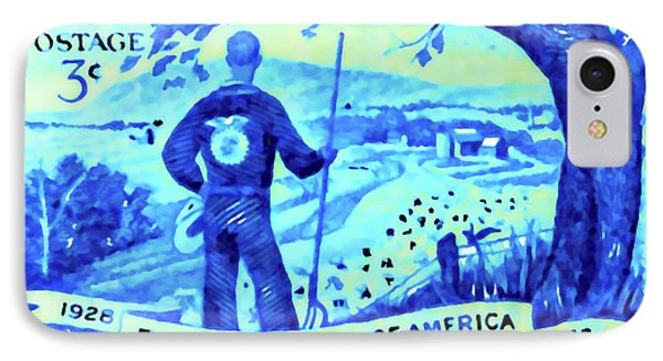 The Future Farmers Of America Stamp IPhone Case by Lanjee Chee