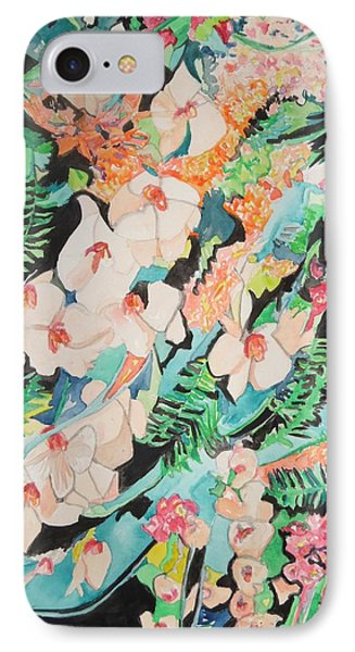 IPhone Case featuring the painting The Gallery Of Orchids 2 by Esther Newman-Cohen