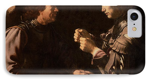 The Gamblers Phone Case by Michelangelo Caravaggio