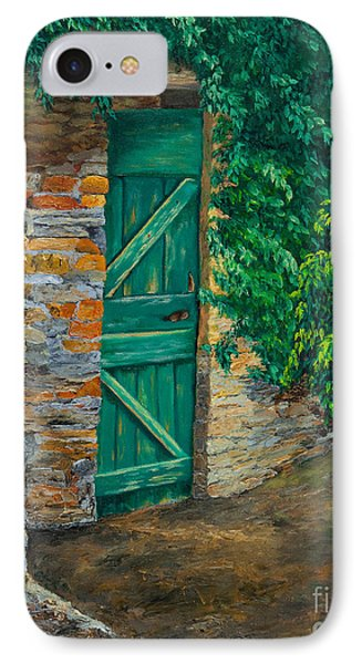 The Garden Gate In Cinque Terre Phone Case by Charlotte Blanchard