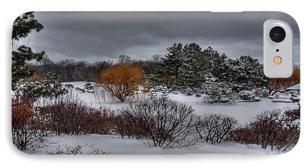 The Garden In Winter Phone Case by David Bearden