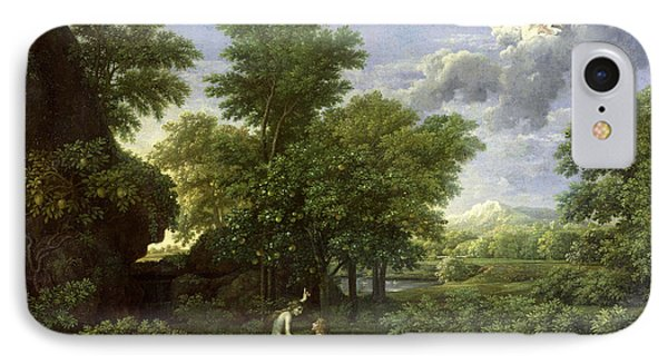 The Garden Of Eden Phone Case by Nicolas Poussin