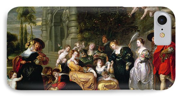 The Garden Of Love IPhone Case by Peter Paul Rubens