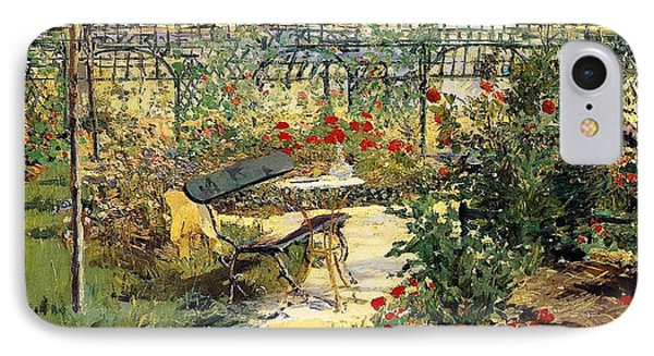 The Garden Of Manet IPhone Case by Edouard Manet