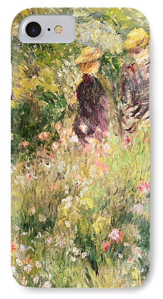The Garden Of Roses IPhone Case by Pierre Auguste Renoir