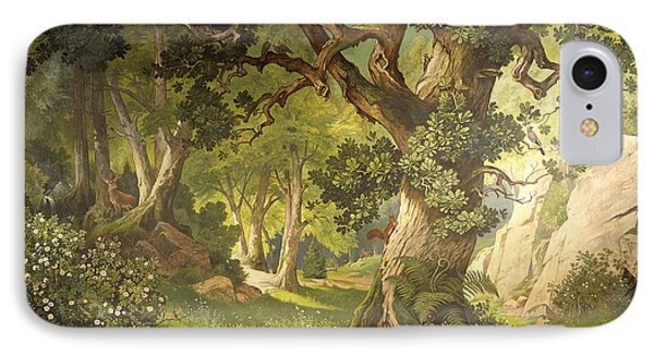 The Garden Of The Magician Klingsor, From The Parzival Cycle, Great Music Room IPhone 7 Case