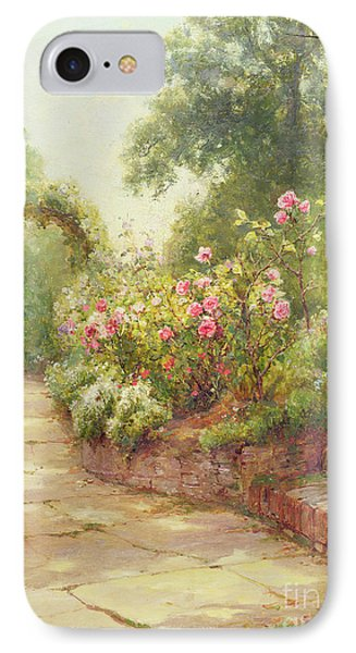 The Garden Steps   IPhone Case by Ernest Walbourn