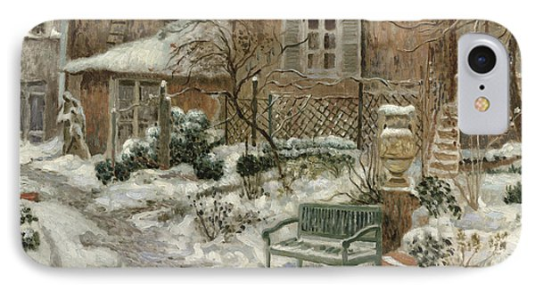 The Garden Under Snow IPhone Case by Eugene Chigot