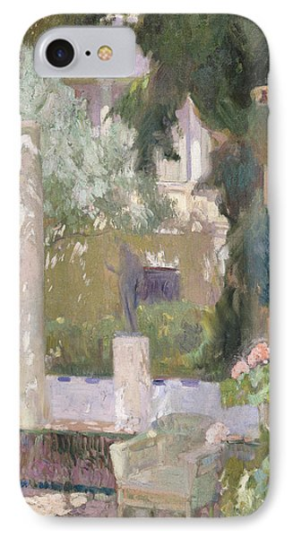 The Gardens At The Sorolla Family House IPhone Case by Joaquin Sorolla y Bastida