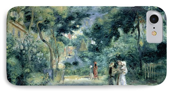 The Gardens In Montmartre IPhone Case by Pierre Auguste Renoir