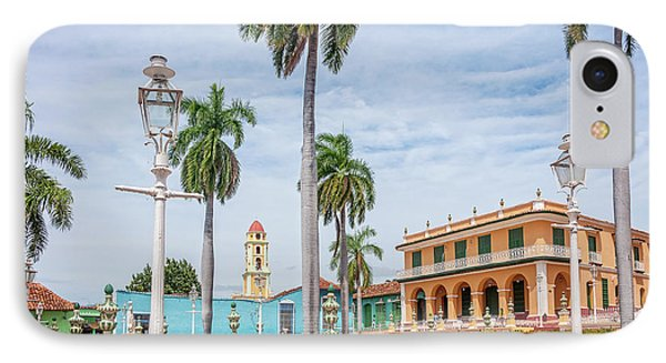 The Gardens In Plaza Mayor - Main Square In Trinidad, Cuba IPhone Case by Daniela Constantinescu