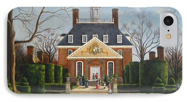 The Gardens Of The Governor's Palace IPhone Case by Gulay Berryman