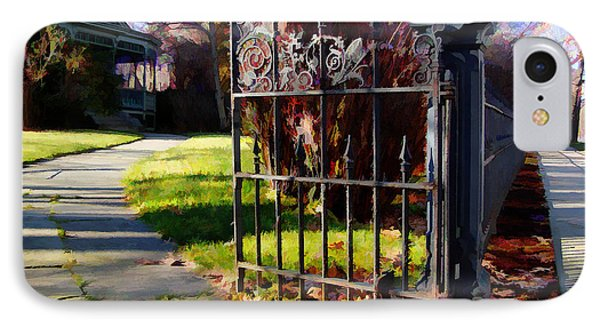 IPhone Case featuring the photograph The Gate by Betsy Zimmerli
