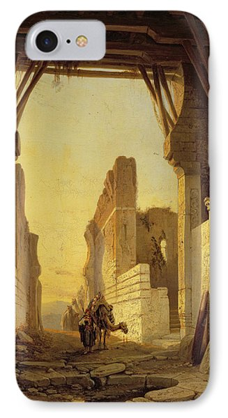 The Gates Of El Geber In Morocco IPhone Case by Francois Antoine Bossuet