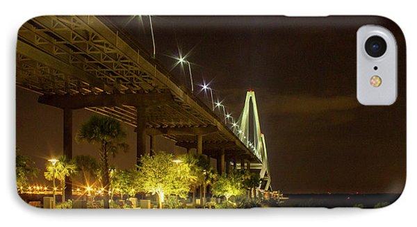 The Gateway Charleston Harbor Arthur Ravenel Jr Bridge IPhone Case by Reid Callaway