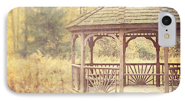 The Gazebo In The Woods Phone Case by Lisa Russo