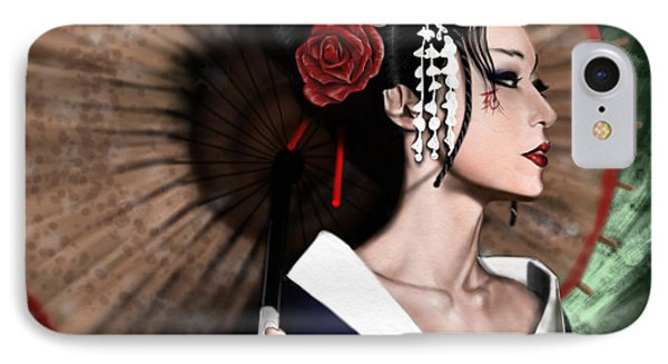 The Geisha Phone Case by Pete Tapang