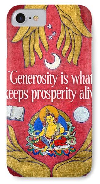 The Generosity Buddha IPhone Case by Jennifer Masters