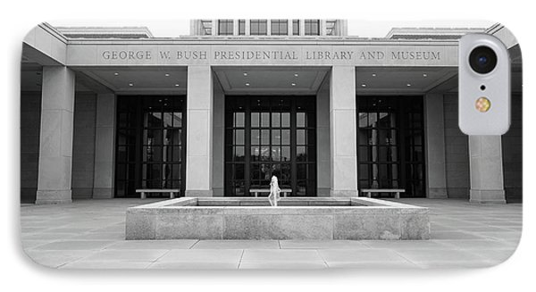 The George W. Bush Presidential Library And Museum  IPhone Case by Robert Bellomy