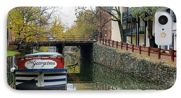 The Georgetown Barge In Washington Dc IPhone Case
