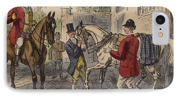 The Gift Horse IPhone Case by John Leech