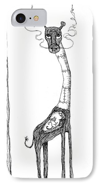 The Giraffe And The Rat Phone Case by Zelde Grimm