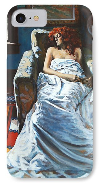 The Girl In The Chair IPhone Case by Rick Nederlof