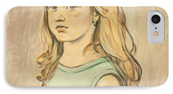 IPhone Case featuring the painting The Girl With The Golden Hair by Olimpia - Hinamatsuri Barbu
