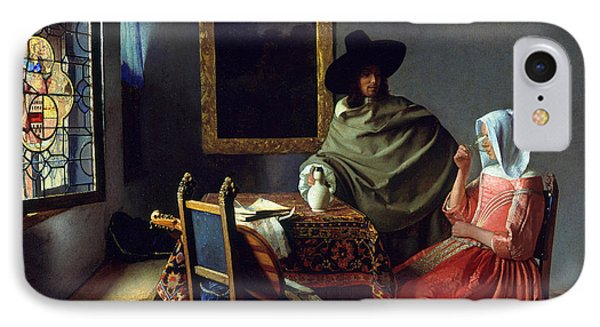 The Glass Of Wine IPhone Case by Jan Vermeer
