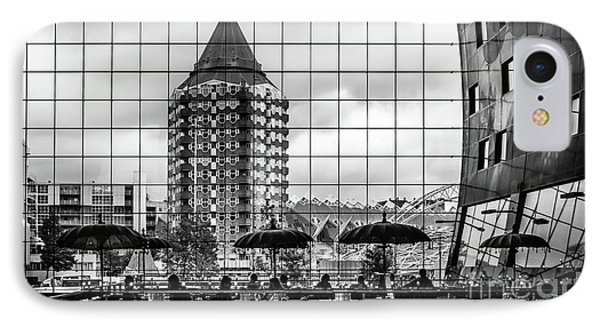 IPhone Case featuring the photograph The Glass Windows Of The Market Hall In Rotterdam by RicardMN Photography