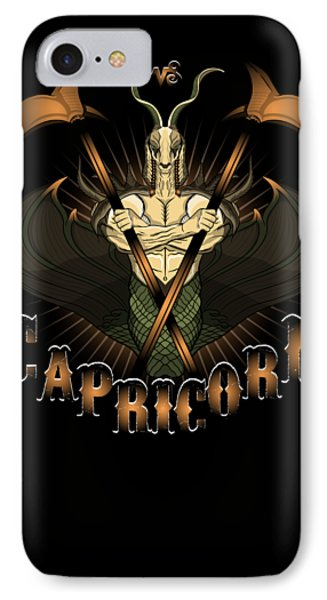 IPhone Case featuring the drawing The Goat - Capricorn Spirit by Raphael Lopez