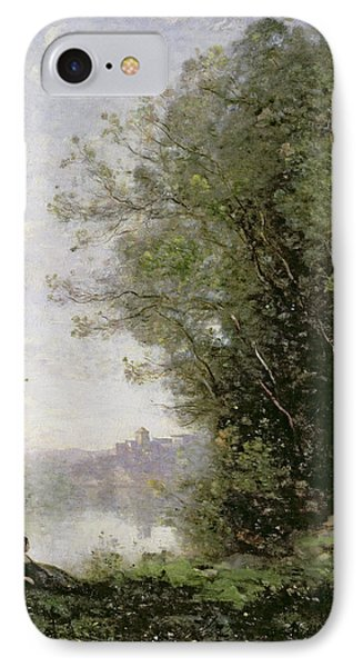 The Goatherd Beside The Water  IPhone 7 Case by Jean Baptiste Camille Corot