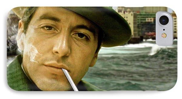 The Godfather, Michael Corleone, Al Pacino, Avenida De Maceo, Havana, Cuba IPhone Case by Thomas Pollart