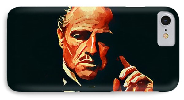 The Godfather Portrait IPhone Case by Dan Sproul