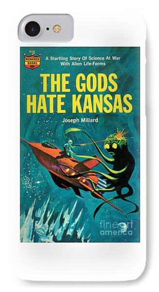 IPhone Case featuring the painting The Gods Hate Kansas by Jack Thurston