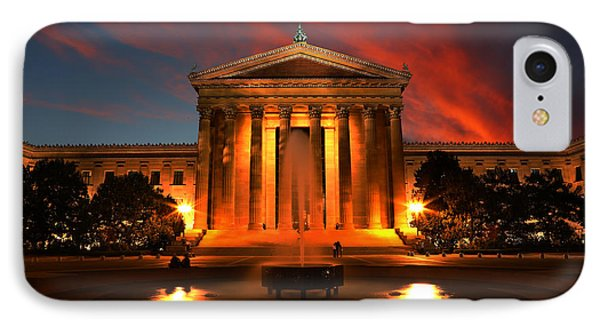 The Golden Columns - Philadelphia Museum Of Art - Sunset Phone Case by Lee Dos Santos